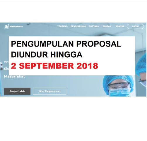 Pengumpulan Proposal Riset Dikti diundur Hingga 2 September 2018