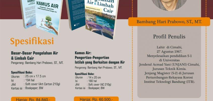 """3 Buku Yang Terbit Karya: Bambang Hari Prabowo """"Kamus Air Pengertian-pengertian Istilah Yang Berkaitan Dengan Air"""""""