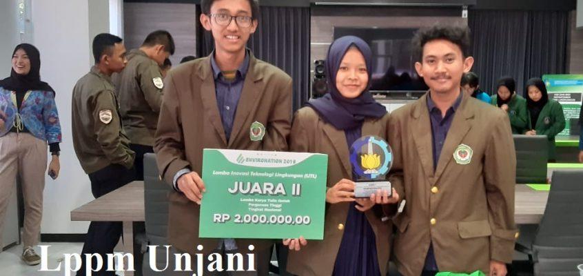 """3- Mahasiswa Fakultas Teknik Unjani Juara II Karya Tulis Ilmiah """"Inovasi Teknologi Lingkungan 2019"""""""