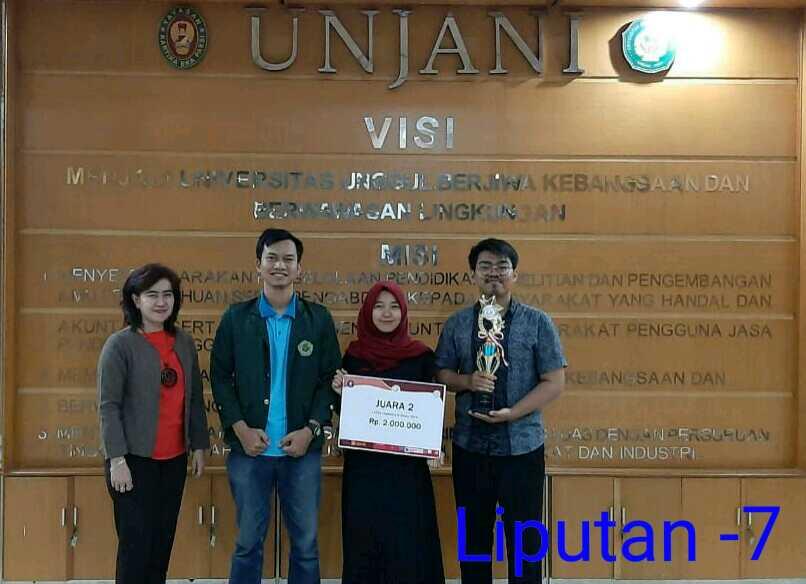 """3- Mahasiswa Unjani Juara 2 Dalam Lomba Karya Tulis Ilmiah """"Chemistry in Action 2019"""""""