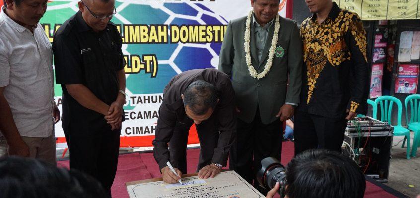 Rektor Unjani & Wali Kota Cimahi Resmikan Sistem Pengelolaan Limbah Di RT. 04 RW 09