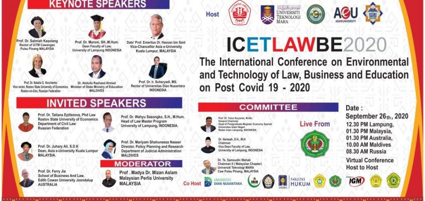 LPPM Universitas Jenderal A. Yani menjadi Co-Host dalam acara yang diselenggarakan oleh  Fakultas Hukum, Universitas Lampung